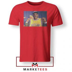 NBA Teams Honor Lakers Legend Red Tshirt