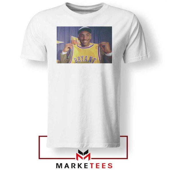 NBA Teams Honor Lakers Legend White Tshirt