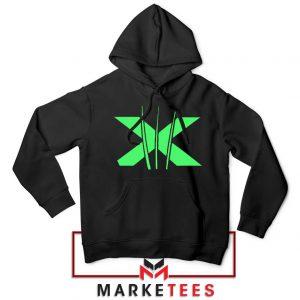 Neon X Men Claw Black Hoodie