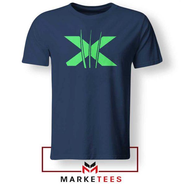 Neon X Men Claw Navy Tee Shirt