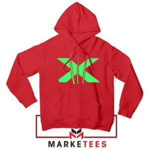 Neon X Men Claw Red Hoodie