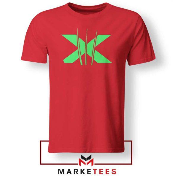 Neon X Men Claw Red Tee Shirt