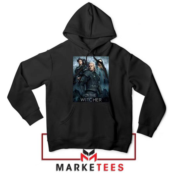 Netflix The Witcher Series Black Hoodie