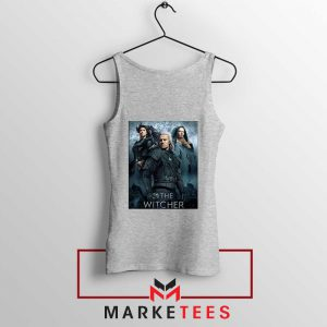 Netflix The Witcher Series Grey Tank Top