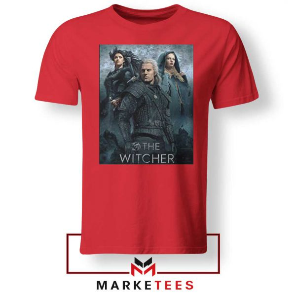 Netflix The Witcher Series Red Tshirt