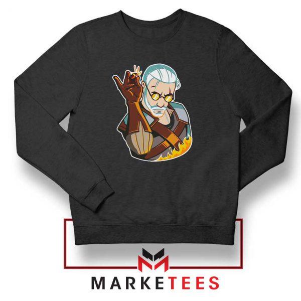 Parody Geralt Witcher Black Sweatshirt