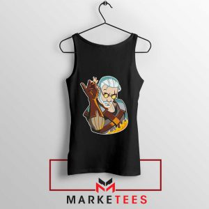 Parody Geralt Witcher Black Tank Top