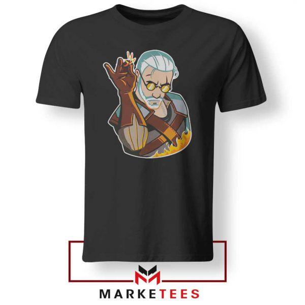 Parody Geralt Witcher Black Tee Shirt
