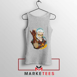 Parody Geralt Witcher Grey Tank Top