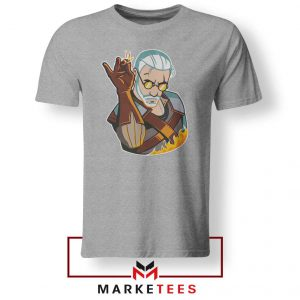 Parody Geralt Witcher Grey Tee Shirt