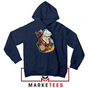Parody Geralt Witcher Navy Hoodie