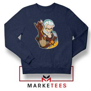 Parody Geralt Witcher Navy Sweatshirt