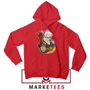 Parody Geralt Witcher Red Hoodie
