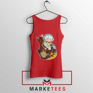 Parody Geralt Witcher Red Tank Top