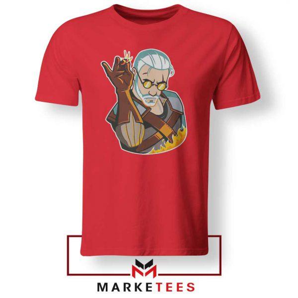Parody Geralt Witcher Red Tee Shirt