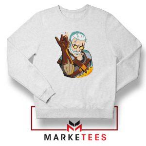 Parody Geralt Witcher White Sweatshirt