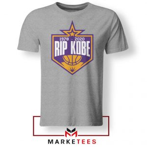 RIP Black Mamba 1978 2020 Grey Tshirt
