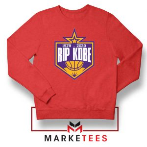RIP Black Mamba 1978 2020 Red Sweatshirt