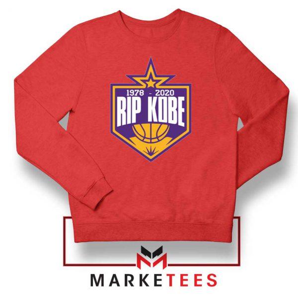 RIP Black Mamba 1978 2020 Red Sweatshirt