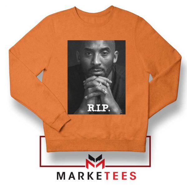 RIP Kobe Bryant LA Lakers Orange Sweatshirt