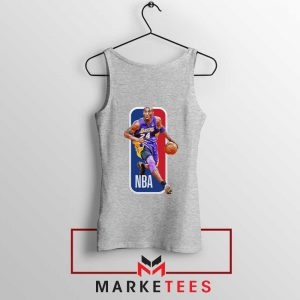 RIP NBA Lakers 24 Kobe Bryant Grey Tank Top