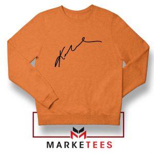 Signature Kobe Bryants Orange Sweatshirt