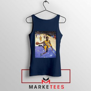 Slam Dunk Kobe Bryant Navy Tank Top