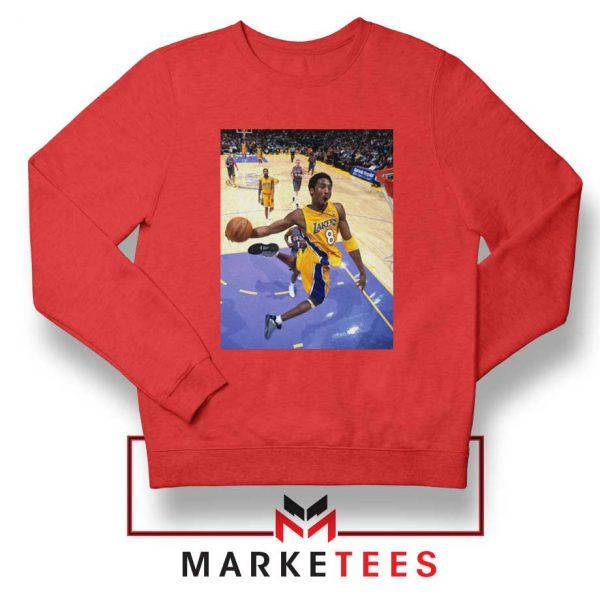 Slam Dunk Kobe Bryant Red Sweatshirt