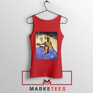 Slam Dunk Kobe Bryant Red Tank Top