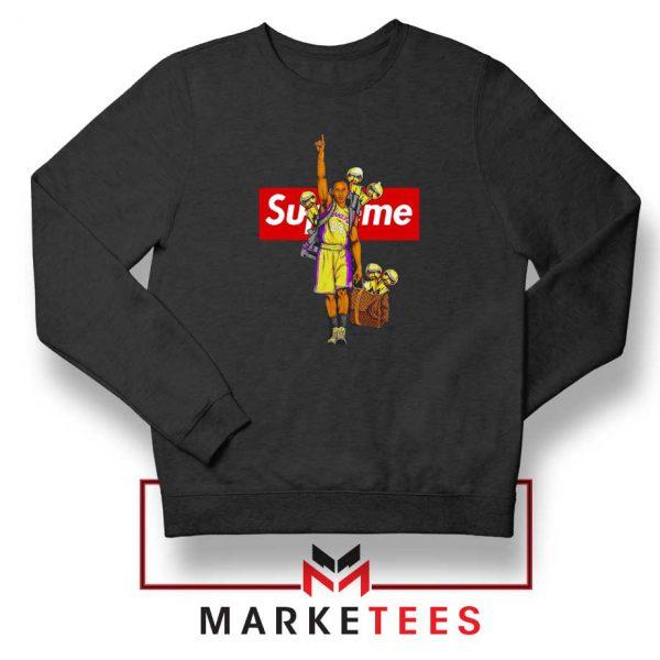Supreme Parody Kobe Bryant Black Sweater