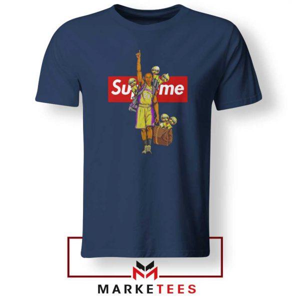 Supreme Parody Kobe Bryant Navy Tshirt