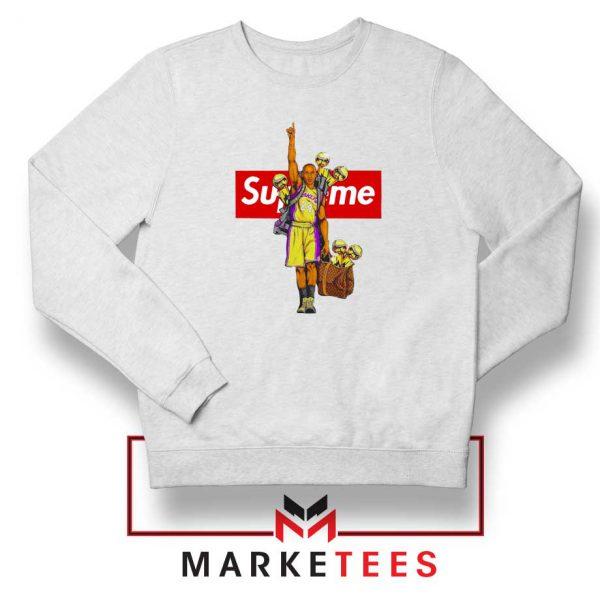 Supreme Parody Kobe Bryant White Sweater