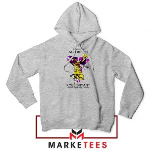 Thank You Kobe Bryant NBA Superhero Grey Hoodie