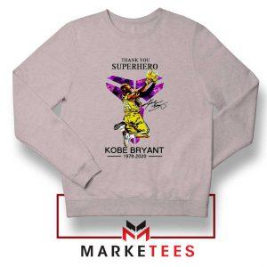 Thank You Kobe Bryant NBA Superhero Grey Sweatshirt