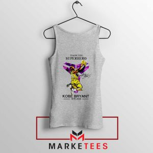 Thank You Kobe Bryant NBA Superhero Grey Tank Top