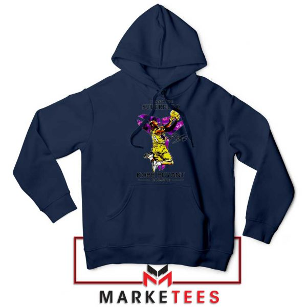 Thank You Kobe Bryant NBA Superhero Navy Hoodie