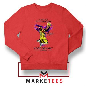 Thank You Kobe Bryant NBA Superhero Red Sweatshirt