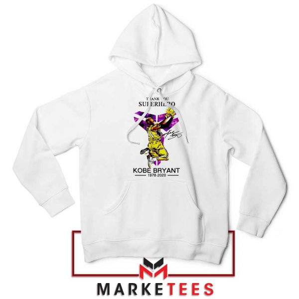 Thank You Kobe Bryant NBA Superhero White Hoodie
