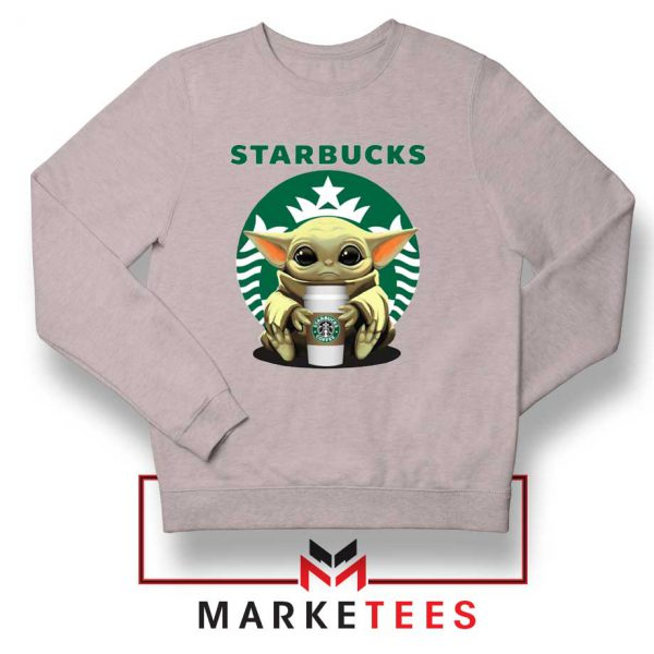 The Child Hug Starbucks Coffee Grey Sweater