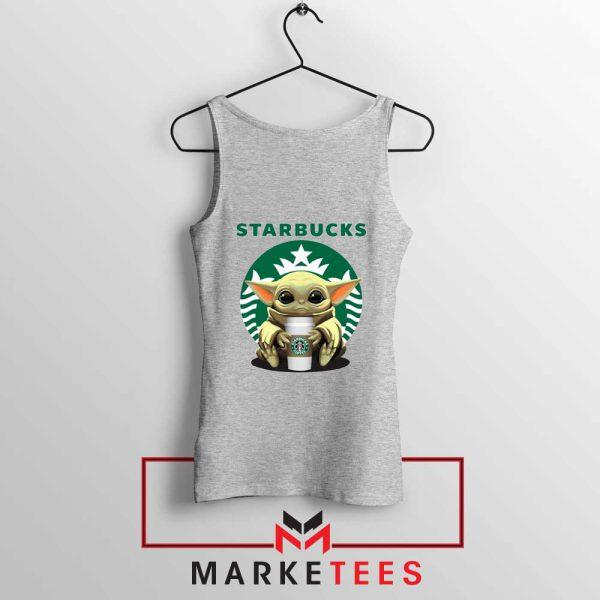 The Child Hug Starbucks Coffee Grey Tank Top