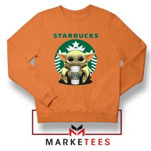 The Child Hug Starbucks Coffee Orange Sweater