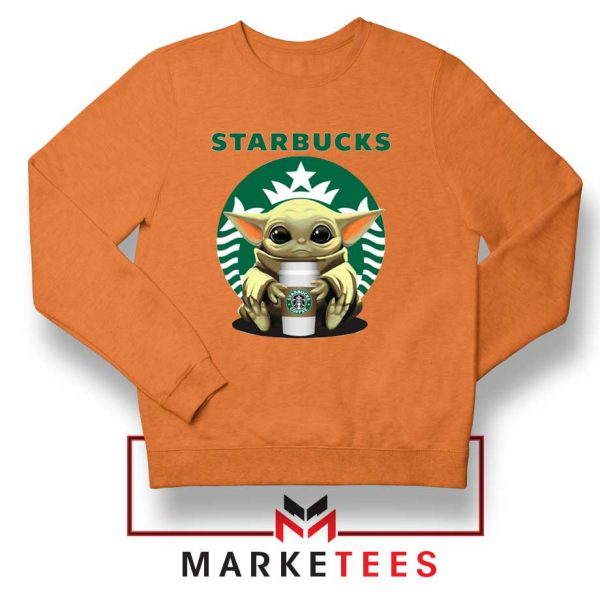 The Child Hug Starbucks Coffee Orange Sweater