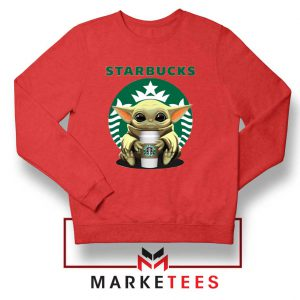 The Child Hug Starbucks Coffee Red Sweater