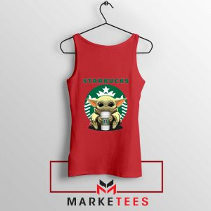 The Child Hug Starbucks Coffee Red Tank Top