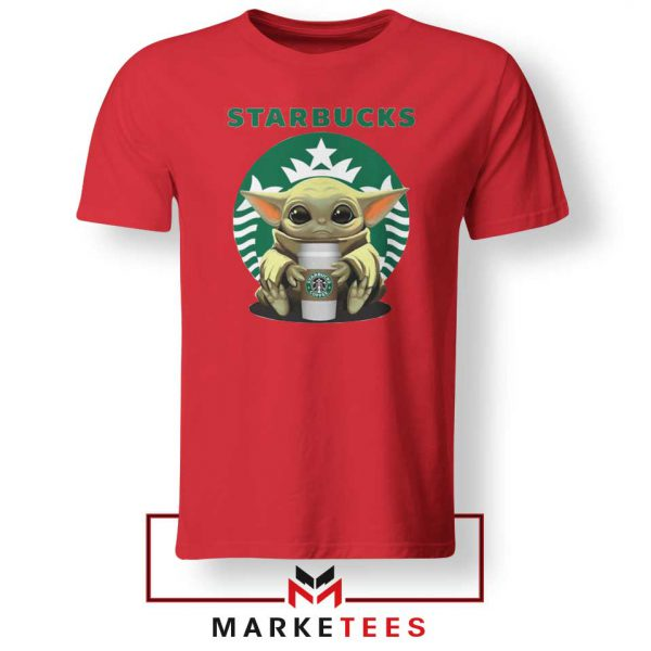 The Child Hug Starbucks Coffee Red Tshirt