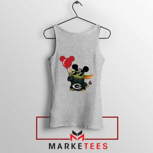 The Child Mickey Mouse Balloons Grey Tank Top