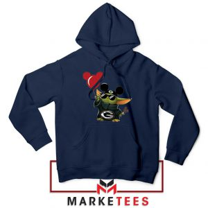 The Child Mickey Mouse Balloons Navy Hoodie