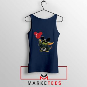 The Child Mickey Mouse Balloons Navy Tank Top