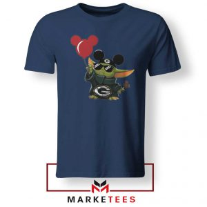 The Child Mickey Mouse Balloons Navy Tshirt