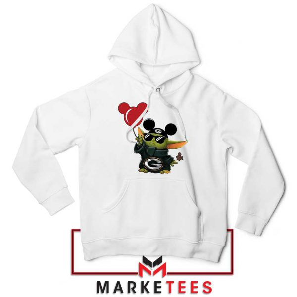 The Child Mickey Mouse Balloons White Hoodie